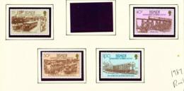 BERMUDA  -  1987 Railway Set Unmounted/Never Hinged Mint - Bermuda