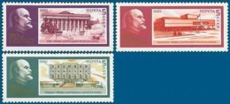 USSR Russia 1990 120th Birth Anniversary Vladimir Lenin Famous People Celebrations Politician Architecture Stamps MNH - Celebrations