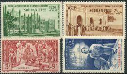 Soudan (1942) PA N 6 à 9 * (charniere) - Unused Stamps