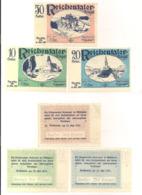 3 Notgeldscheine Reichentaler 10, 20 + 50 H - Austria