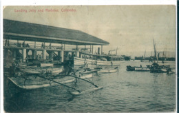 Superbe  CPA  De  COLOMBO   (  SRI--LANKA  )    Landing Jetty And  Harbour.  ( Une Griffure ) - Sri Lanka (Ceylon)