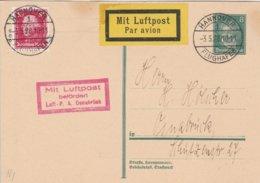 Allemagne Carte Aviation Hannover Flugplatz 1928 - Deutschland