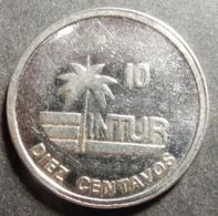 Cuba Intur 10 Centavos 1989 KM#415.2a Steel Top Grade! Rare! - Cuba