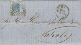 Bari. 1874. Annullo Numerale Piccolo Cerchio A Punti, Su Lettera Con Testo. - Storia Postale