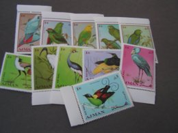 Adschman  ** MNH Vögel Birds  1969   394-404 - Adschman