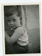 Superbe Portrait Enfant Kid Boy Garçon Beauty  Snapshot Amateur - Personnes Anonymes