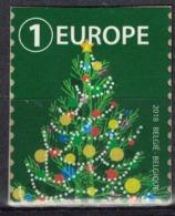 Belgique 2018 Non Oblitéré Sur Fragment Used Greetings Voeux Sapin De Noël Vert - Belgien