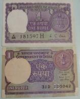 1976 + 1990... India Inde Notes.. - Indien