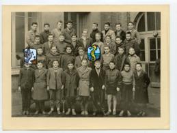 Superbe Portrait Ecole Garçon St Saint Etienne Classe 50s 1957 1958 R Faure 5e C College à Situer Identifier - Personnes Anonymes