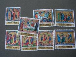 Adschman  ** MNH Miniaturen Ostern 506-513 - Adschman