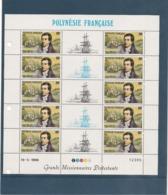 POLYNÉSIE FRANÇAISE ANNÉE 1988 GRANDS MISSIONNAIRES PROTESTANTS N° 318A/320A** EN FEUILLET Côte : 95,00 € - Polynésie Française