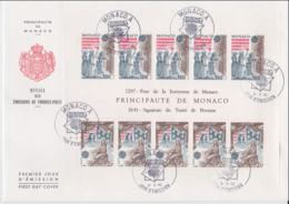 Monaco 1982 FDC Europa CEPT Souvenir Sheet (LAR8-9) - Europa-CEPT