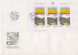 Portugal 1977 FDC Europa CEPT Souvenir Sheet (LAR8-9) - Europa-CEPT