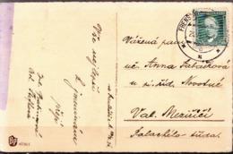 Czechoslovakia Used Postcard With Frenstat Cancel, 1936 - Czechoslovakia