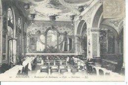 90 - BORDEAUX - RESTAURANT DE BORDEAUX -  CAFE - INTERIEUR - Bordeaux