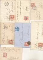 SPAIN 1855/1860 ISSUES ISABELL II 4CU  COVERS SELECTION MINGLANILLA CUENCA/ MURCIA/PONTEVERA/SALAMANCA/ALICANTE/BARCELON - 1850-68 Königreich: Isabella II.
