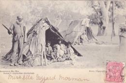 1999/ Aboriginal Mia Mia, Woningen, Tenten Met Mensen 1907 - Aborigènes