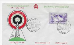 UAR / Egypte / Ägypten / Egitto / Egipto / Egito / Egypten 1 Mar 1959  FDC Arab Union Of Telecommunications - Covers & Documents