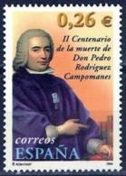 España. Spain. 2003. Pedro Rodriguez . Conde De Campomanes. - 2001-10 Nuevos & Fijasellos