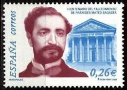 España. Spain. 2003. Praxedes Mateo Sagasta - 2001-10 Nuevos & Fijasellos