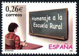 España. Spain. 2003. Homenaje A La Escuela Rural - 2001-10 Nuevos & Fijasellos