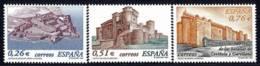 España. Spain. 2003. Castillos De San Felipe (Ferrrol). Cuellar (Segovia) Y Montilla (Cordoba) - 2001-10 Nuevos & Fijasellos