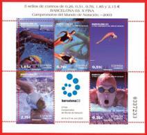 España. Spain. 2003. HB. Campeonatos Del Mundo De Natacion. Barcelona - 2001-10 Nuevos & Fijasellos