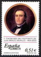 España. Spain. 2003. II Centenario Del Nacimiento De Juan Bravo Murillo - 2001-10 Nuevos & Fijasellos