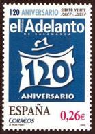 """España. Spain. 2003. 120 Aniversario De """"El Adelanto"""". Salamanca - 2001-10 Nuevos & Fijasellos"""