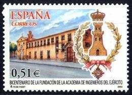 España. Spain. 2003. Academia De Ingenieros Del Ejercito. Alcala De Henares - 2001-10 Nuevos & Fijasellos