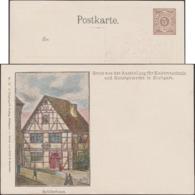Wurtemberg 1896. Entier Illustré Timbré Sur Commande. Maison Natale De Schiller, Ausstellung Für Elektrotechnik - Writers