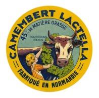 ETIQUETTE De FROMAGE. CAMEMBERT Fabriqué En NORMANDIE..LACTELLA.. Tourcoing Paris - Cheese