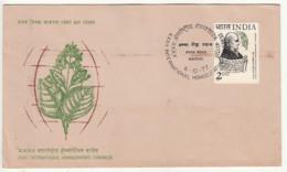 India FDC 1977, International Homeopathic Conference, Samuel Hahnemann, Health, Disease, Medicine, Plant - Gezondheid