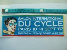AUTOCOLLANT CYCLISME - SALON INTERNATIONAL DU CYCLE - PARIS 87 - Aufkleber
