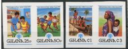 Ghana 1980  IYC AIE Football  IMPERF Du Bloc   MNH - Childhood & Youth