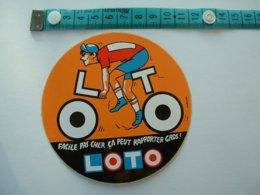 AUTOCOLLANT CYCLISME - LOTO - Aufkleber
