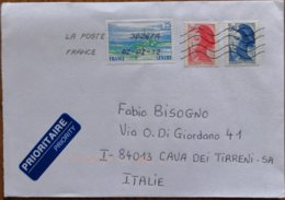 2012 France  -    Used Stamps On Cover To Italy - Marcofilie (Brieven)