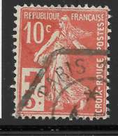 Yvert 147 Maury 147 - 10 C + 5 C Rouge - O - 1906-38 Semeuse Camée