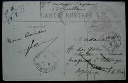 Châteaubriant Loire Inférieure 1915, Cachet Mission Des Otages, Ministère De La Guerre  Pour Aigueperse, Château De Bort - Poststempel (Briefe)