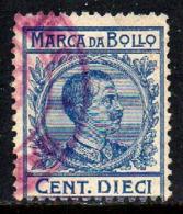 12008 Itália Selo Fiscal Marca Da Bollo 10 Cent. U (28) - Italy