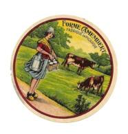 ETIQUETTE De FROMAGE. Petit ..FORME CAMEMBERT Fabriqué En PICARDIE - Cheese