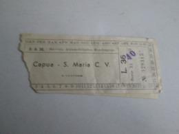 S.A.M Biglietto Da Lire 35  Capua-santa Maria Capua Vetere E Viceversa Con Marca Da Bollo - Bus