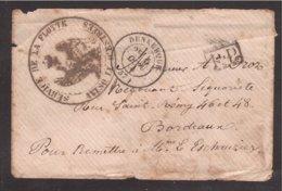 GUERRE 1870, Rare Courrier AVISO D'ESTRÉES Service De La Flotte Dunkerque - Marcophilie (Lettres)