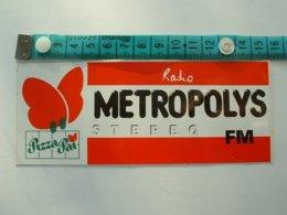 AUTOCOLLANT RADIO METROPOLYS - Autocollants
