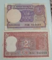 2 Different Denomination India Inde Notes.. - Indien