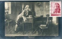 48306 Bulgaria  Maximum  1956  Amadeus Mozart     Vintage Card - Music