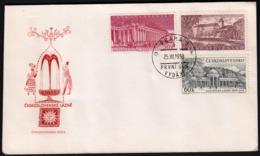 Czechoslovakia Prague 1958 / Sanatories, Lazne,  Podebrady, Karlovy Vary, Marianske Lazne / FDC - Hydrotherapy