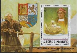 1982  SAO TOME E PRINCIPE N°  BF  Nf** MNH . Bloc-feuillet Christophe Colomb . La Santa Maria . - São Tomé Und Príncipe