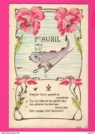CPA Gaufrée (Ref: Z2015) ) 1er AVRIL POISSON D'AVRIL - 1er Avril - Poisson D'avril