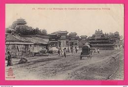 CPA (Ref: Z2076) PÉKIN (CHINE) La Montagne De Charbon Et Route Conduisant Au Peïtong (animée) - China